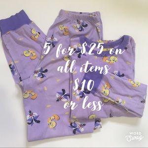 Looney Toones Pajama Set